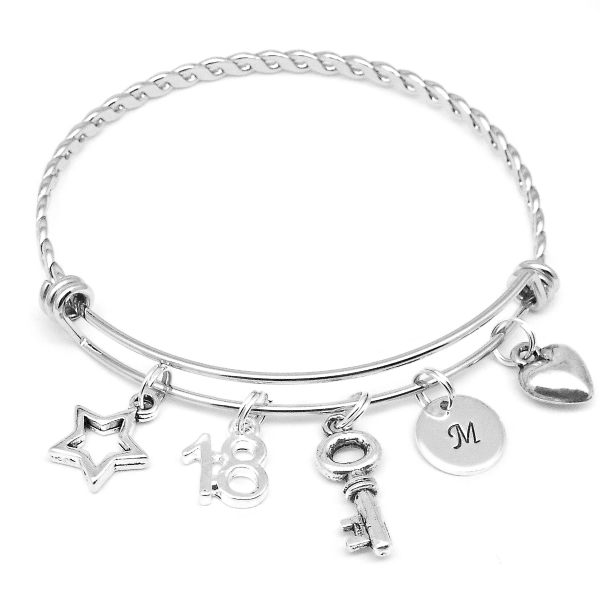 18th Birthday age bracelet jewellery gift